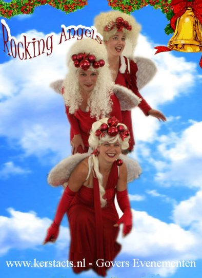 kerstmuziek, kerstmuzikanten Rocking Angels, kerst, muziektrio, Kerstfeest, Christmas muziek, muziek voor kerstdagen, Govers Evenementen
