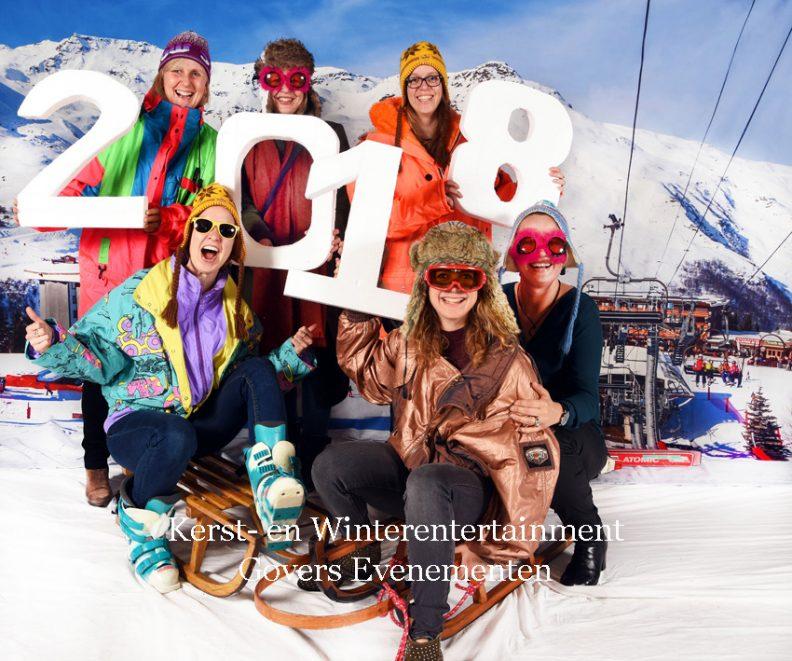 Kerst- en Winterentertainment fun foto's winterfoto's foto's op kerstfeest, kerstborrel, bedrijfsborrel