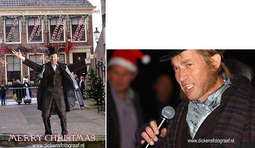 Charles Dickens Entertainment, Scrooge komische kerstact ook voor presentatie tijdens kerstborrel, www.kerstacts.nl