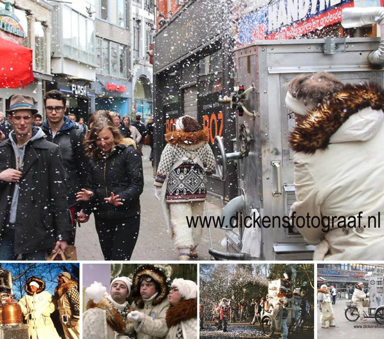 De Sneeuwmachine, Drie wetenschappers hebben een machine ontwikkeld waarmee zij sneeuw kunnen maken www.kerstacts.nl
