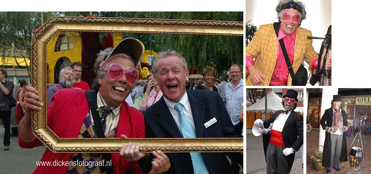 Kerstfotograaf - Funfotograaf Freek Flits een echte kerst paparazzo Funfotograaf, acteur met veel reuring en humor, www.kerstacts.nl