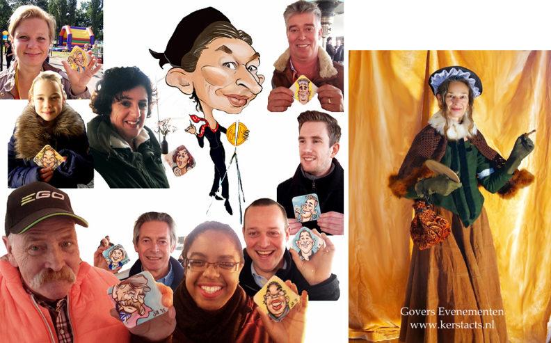 Dickens Karikatuur tekenen, karikaturiste Dickensstijl, themafeest, Kerstfeest, Govers Evenementen, sneltekenaar, sneltekenen op bierviltjes, digitaal sneltekenen, Dickens feest, Kerstfeest, artiesten boeken, kerstfeest, Dickensfestival, www.kerstacts.nl