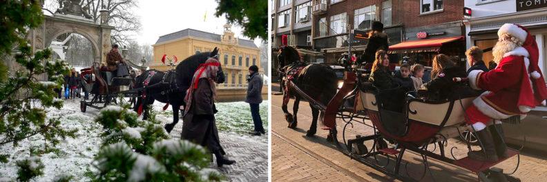 Kerstentertainment, Kerst, Kerstman, Christmas, themafeest, Kerst- en winterentertainment, Arrenslee met Kerstman, Arreslee, winter, kerstfeest, op de arrenslee, Kerstacts.nl, Govers Evenementen