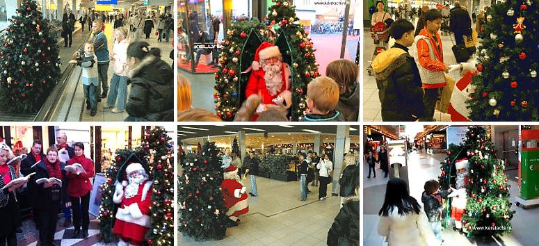 De verrassing van dit kerstentertainment is groot zodra in de kerstboom een kerstman blijkt te zitten, kerstentertainment, kerstartiesten inhuren, artiesten boeken, www.kerstacts.nl