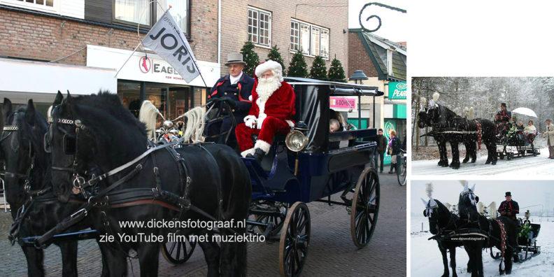 Levende Kerststal verhuur, Winterkoets met paarden, Koets verhuur met Kerstman, kerst entertainment, kerstacts, www.kerstacts.nl