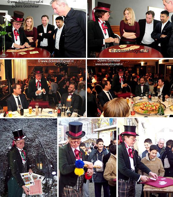 Charles Dickens Entertainer, deze Dickens Goochelaar doet leuke trucs op straat, in een winkelcentrum op straat of tijdens uw kerstborrel bijeenkomst, www.kerstacts.nl