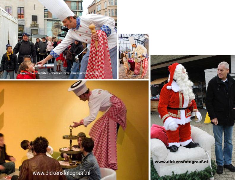 Kerst catering, winterentertainment Govers Evenementen, Kerstacts.nl, Culinair entertainment, Kerstcatering - Culinair Entertainment, Deze acteur verrast uw genodigden met bijzondere creaties bijvoorbeeld als stelten lopende kok