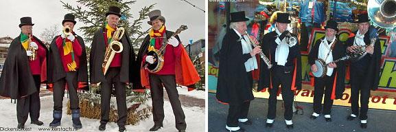 Dickens looporkest, kerstmuzikanten spelen op Charles Dickens evenement of kerstmarkt, www.kerstacts.nl