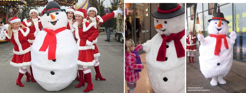 sneeuwpop - kerst entertainment winter of kerstfeest en kinderanimatie, kerstfeest, artiesten boeken voor kerst, themafeest, witte winter entertainment, www.kerstacts.nl