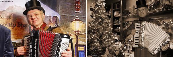 Als het einde van het jaar nadert, en de dagen van december steeds korter worden, verschijnt de Dickens Accordeonist weer op de straten en pleinen, www.kerstacts.nl
