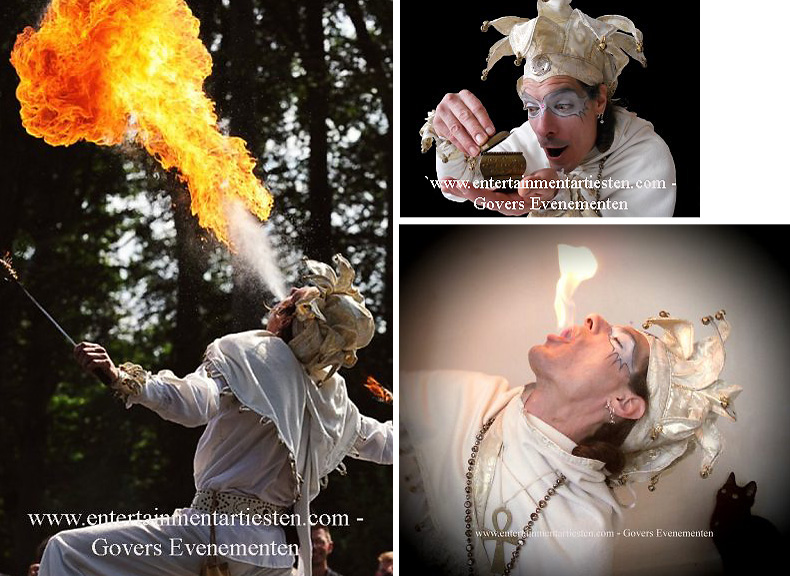 kerstact, kerstacts, kerst entertainment, kerstartiesten, kerstvermaak, winter entertainment, winteract, winteracts, kerstentertainment inhuren, Midwinter Nar Vuurspuwer, vuurspugen, Vuurshow, jongleren, Govers Evenementen, www.kerstacts.nl