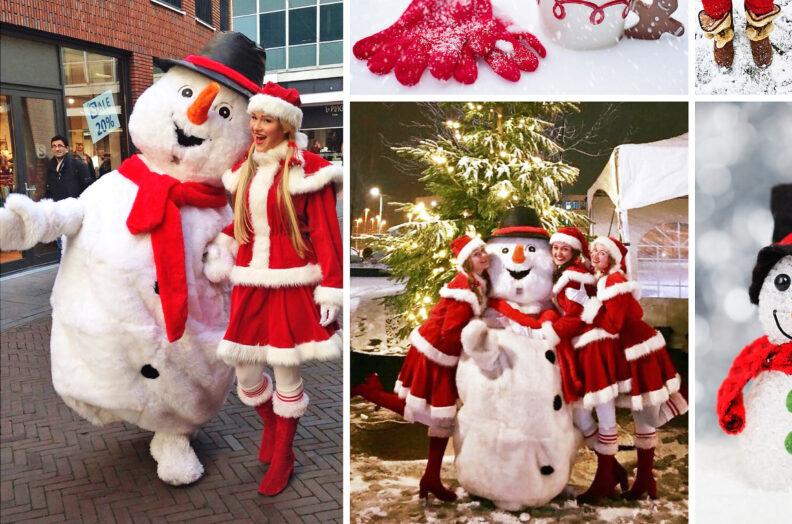 sneeuwpop - knuffel sneeuwpop, wit, winters, kerst entertainment winter of kerstfeest en kinderanimatie, kerstfeest, artiesten boeken voor kerst, themafeest, witte winter entertainment, www.kerstacts.nl